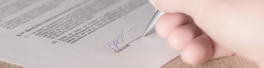 Handtekening in document plaatsen